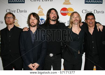 Foo Fighters at the Clive Davis Pre-Grammy Awards Party, Beverly Hilton Hotel, Beverly Hills, CA. 02-12-11
