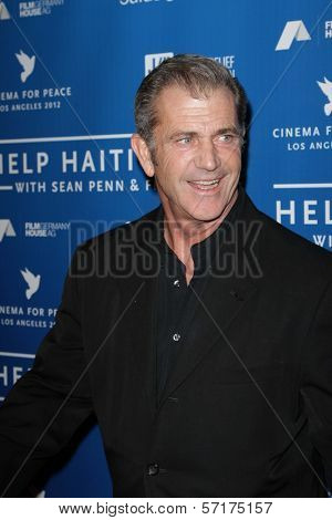 Mel Gibson at the Cinema For Peace Fundraiser For Haiti, Montage, Beverly Hills, CA 01-14-12