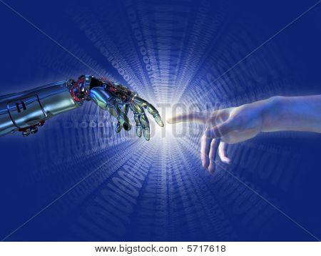 Geburt von künstlicher Intelligenz binäre burst