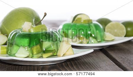 Green Jello On White