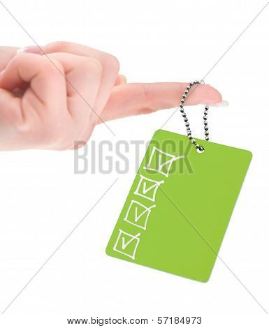 Empty Tag With Completed Checklist