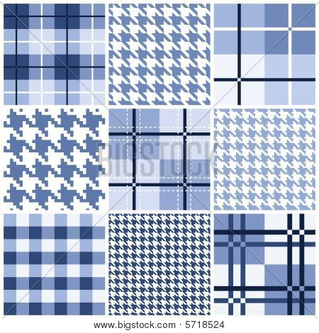 Blue seamless pattern collection