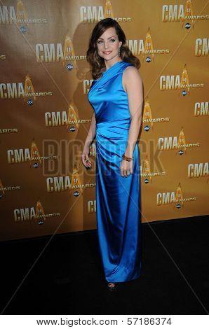 Kimberly Williams  at the 44th Annual CMA Awards, Bridgestone Arena, Nashville, TN.  11-10-10