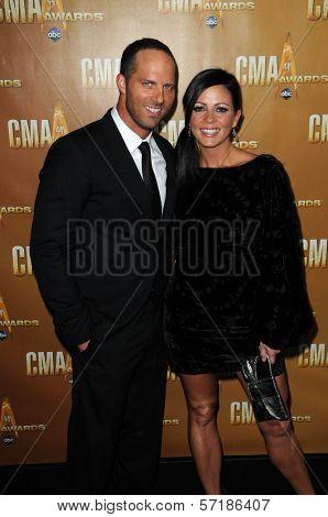 Sara Evans at the 44th Annual CMA Awards, Bridgestone Arena, Nashville, TN.  11-10-10