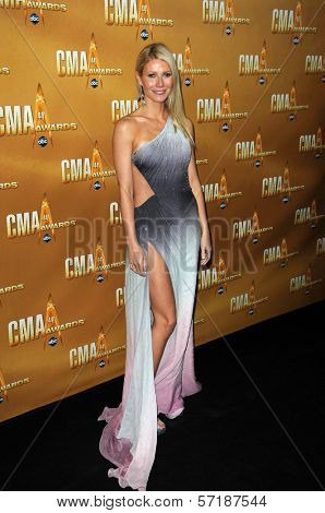 Gwyneth Paltrow  at the 44th Annual CMA Awards, Bridgestone Arena, Nashville, TN.  11-10-10