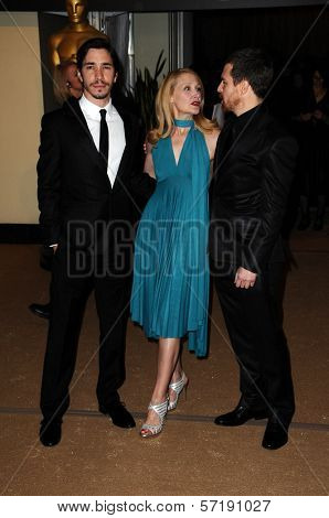 Justin Long, Patricia Clarkson and Sam Rockwell at the  2nd Annual Academy Governors Awards, Kodak Theater, Hollywood, CA.  11-14-10