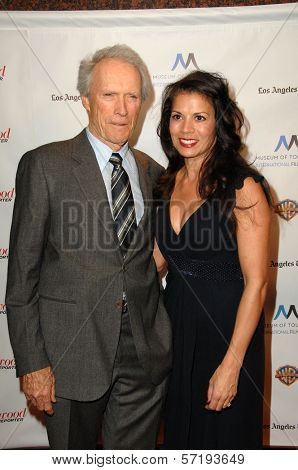 Clint Eastwood and wife Dina Ruiz at the Inaugural Museum Of Tolerance International Film Festival Gala Honoring Clint Eastwood, Museum Of Tolerance, Los Angeles, CA. 11-14-10