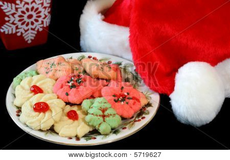 Santa's Hat and Plate of Cookies