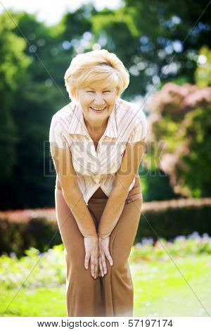 Vitality. Independent Gracious Old Woman Granny Having Fun