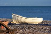 Dinghy on beach