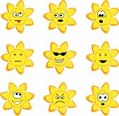Sunny icon set. Vector illustration. poster