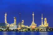 image of pipeline  - night oil and gas factory pipeline environment - JPG
