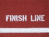 stock photo of track field  - Finish line  - JPG