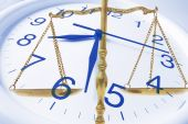 pic of pro-life  - Composite of Clock and Brass Scale Close Up - JPG