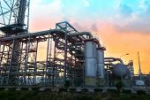 pic of greenpeace  - Oil refinery plant  with beautiful sky daytime - JPG