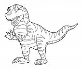 image of dinosaurus  - Beautiful dinosaur coloring page for the children - JPG