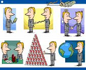foto of lobbyist  - Cartoon Illustration Set of Funny Men or Businessmen Characters and Business Metaphors - JPG
