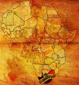 Постер, плакат: RSA на карте Африки