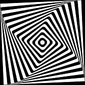 image of symmetry  - Abstract square spiral black and white pattern - JPG