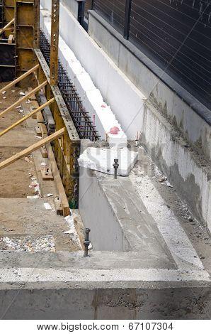 New Home Foundation  Concrete Construction And Insulation Styrofoam
