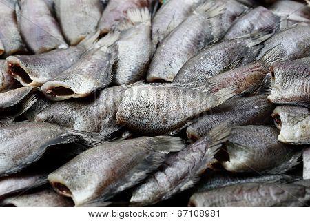 he sea fish preserve by salt at street food, thailand