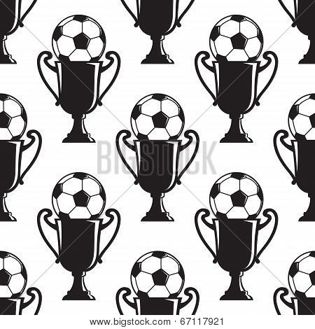 Soccer champions trophy seamless pattern