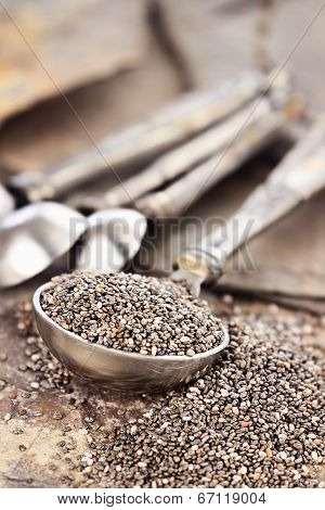 Measuring Spoon Of Chia Seeds