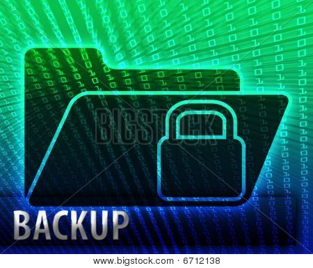 Data information backup storage folder concept illustration