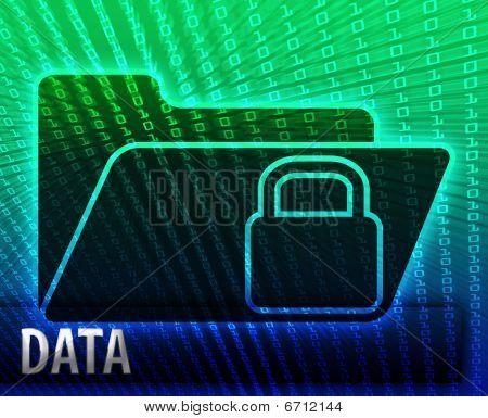 Data information backup storage folder concept illustration