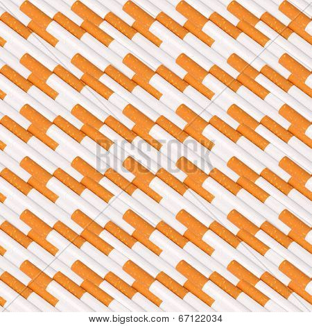 Seamless Pattern Of Cigarettes