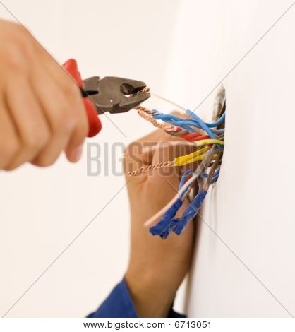 Handyman Working Closeup