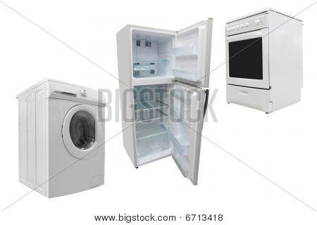 e-Herd, Waschmaschine und Kühlschrank