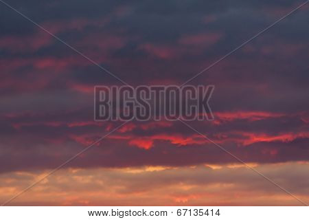 clouds during sunset