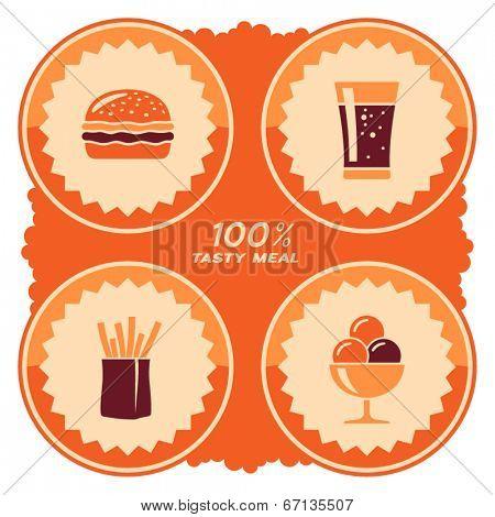 Fast food label design