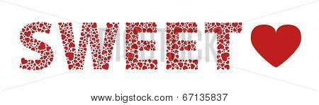 Sweet heart love hearts text