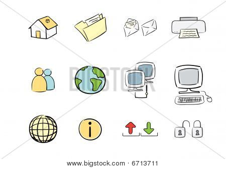 Hand Drawn Icon Set: Web