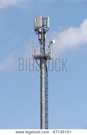 Antennas of mobile communication on a concrete mast