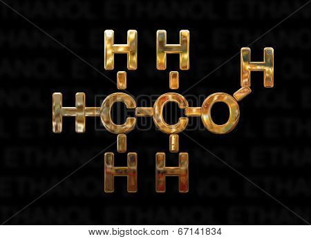 Ethanol Molecule Concept