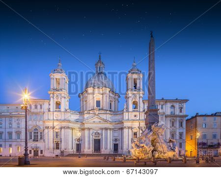 Four Rivers fountain and church Sant'Agnese