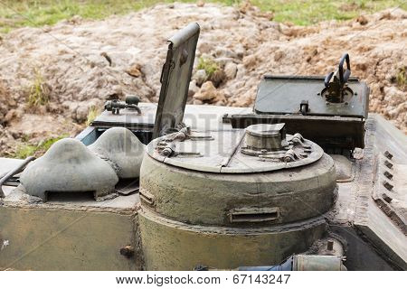 Hatch Commander Of The Soviet Self-propelled Gun