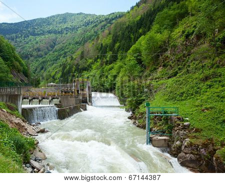 Small hydro power plant in Turkey
