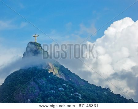 Statue Christ The Redeemer In Rio