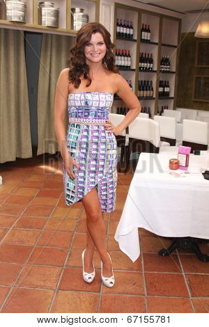 LOS ANGELES - JUN 21:  Heather Tom at the Leading Ladies of Daytime Luncheon 2014 at the Fig & Olive Resturant on June 21, 2014 in Los Angeles, CA