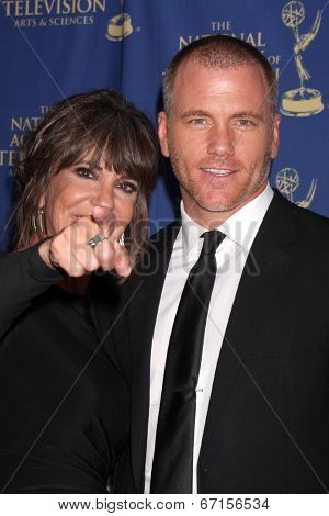 LOS ANGELES - JUN 20:  Jess Walton, Sean Carrigan at the 2014 Creative Daytime Emmy Awards at the The Westin Bonaventure on June 20, 2014 in Los Angeles, CA