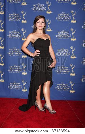 LOS ANGELES - JUN 20:  Katie Douglas at the 2014 Creative Daytime Emmy Awards at the The Westin Bonaventure on June 20, 2014 in Los Angeles, CA