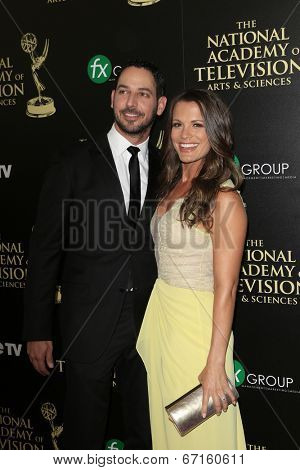BEVERLY HILLS - JUN 22: Melissa Claire Egan, Matt Katrosar at The 41st Annual Daytime Emmy Awards at The Beverly Hilton Hotel on June 22, 2014 in Beverly Hills, California