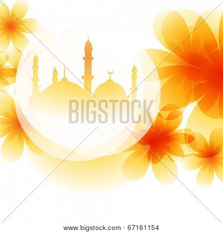 colorful mosque design background illustration