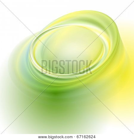 Green yellow vector abstract background with light circles and shadows