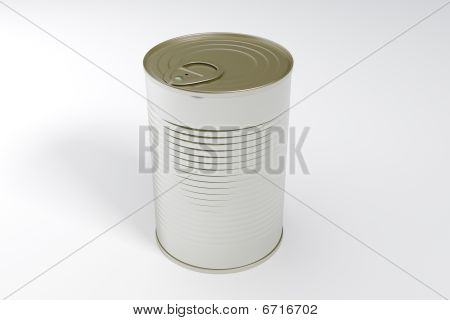 A Single Metal Can Isolated With Clipping Path