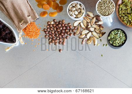 Variety, Dried Fruits, Nuts And Grains